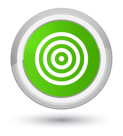 Target icon isolated on prime soft green round button abstract illustration Stock Photo