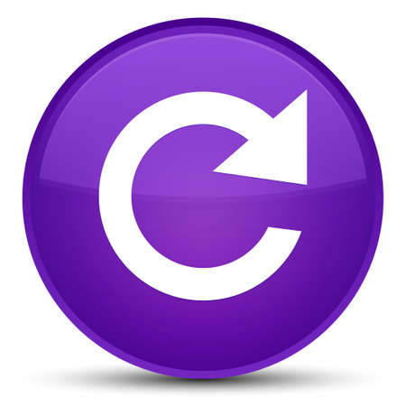 Reply rotate icon isolated on special purple round button abstract illustration