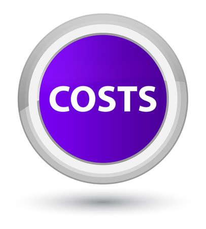 Kosten lokalisiert auf purpurroter runder Knopfzusammenfassungsillustration des Primats Standard-Bild