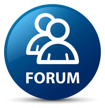 Forum (group icon) isolated on blue round button abstract illustration