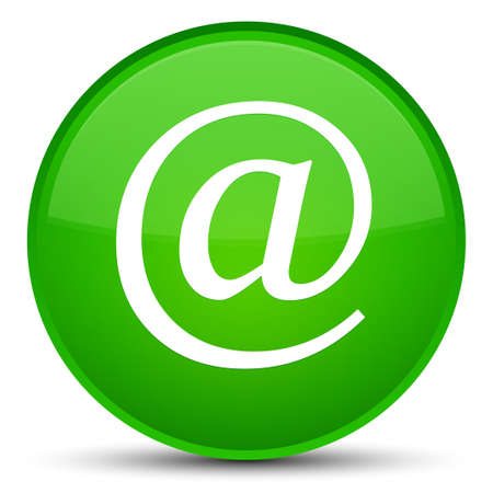 Email address icon isolated on special green round button abstract illustration