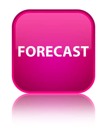Forecast isolated on special pink square button reflected abstract illustration Banco de Imagens