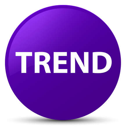Trend isolated on purple round button abstract illustration