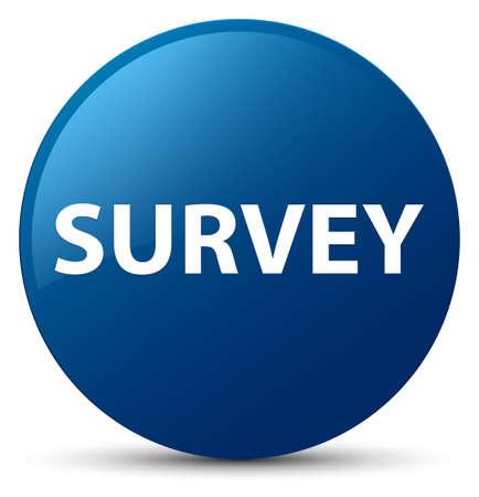 Survey isolated on blue round button abstract illustration Stock Photo