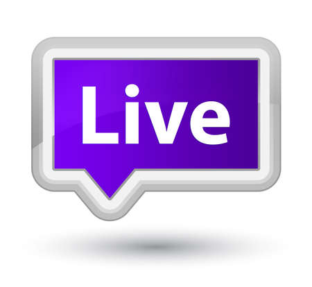 Live isolated on prime purple banner button abstract illustration Stock Photo