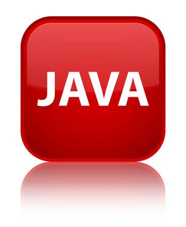 特別な赤い四角のボタンに分離された Java は、抽象イラストを反射