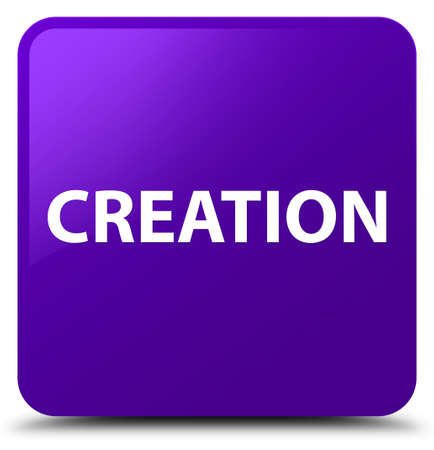 Creation isolated on purple square button abstract illustration