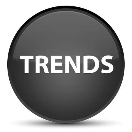 Trends isolated on special black round button abstract illustration Stok Fotoğraf