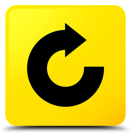 Reply arrow icon isolated on yellow square button abstract illustration Stok Fotoğraf