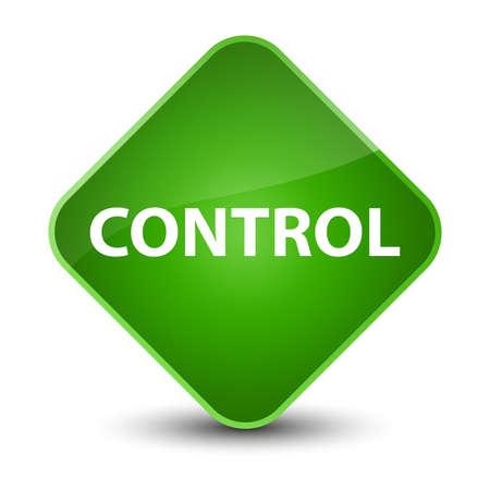 Control isolated on elegant green diamond button abstract illustration