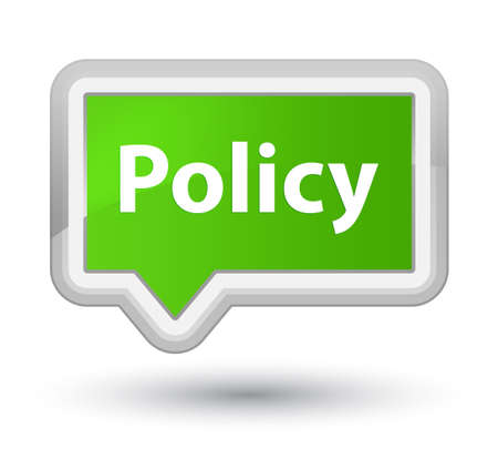 Policy isolated on prime soft green banner button abstract illustration