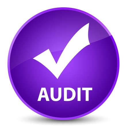Audit (validate icon) isolated on elegant purple round button abstract illustration