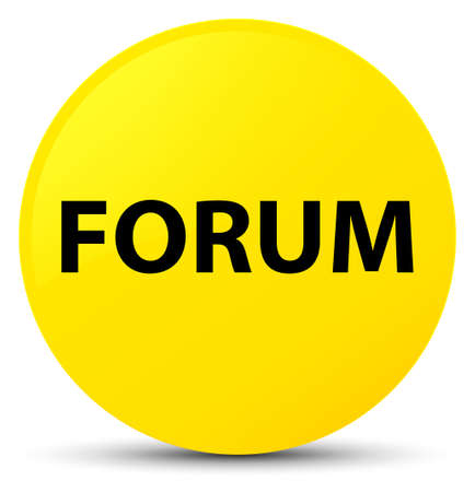 Forum isolated on yellow round button abstract illustration