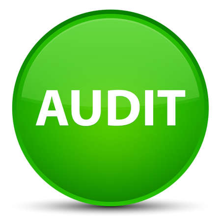 Audit isolated on special green round button abstract illustration