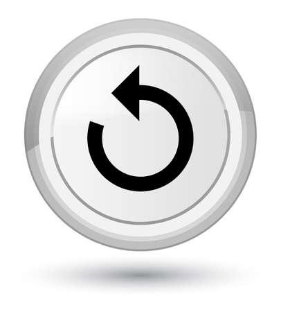 Refresh arrow icon isolated on prime white round button abstract illustration Stock Photo