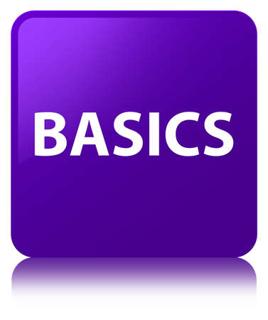 Basics isolated on purple square button reflected abstract illustration Фото со стока