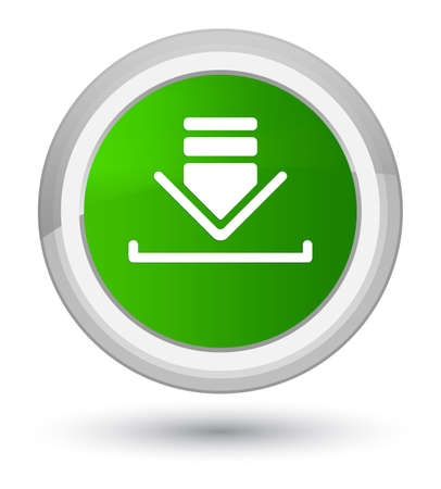Download icon isolated on prime green round button abstract illustration