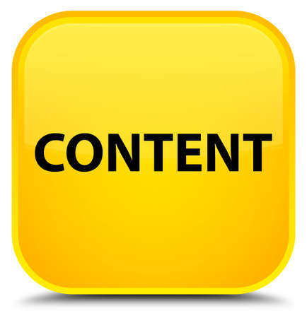 Content isolated on special yellow square button abstract illustration