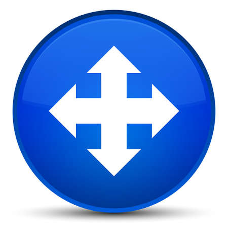 moving down: Move icon isolated on special blue round button abstract illustration