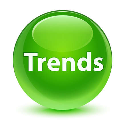 Trends isolated on glassy green round button abstract illustration Stock Photo