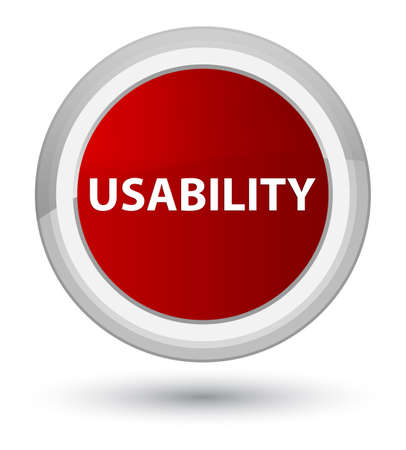 Usability isolated on prime red round button abstract illustration