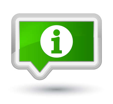 Info icon isolated on prime green banner button abstract illustration
