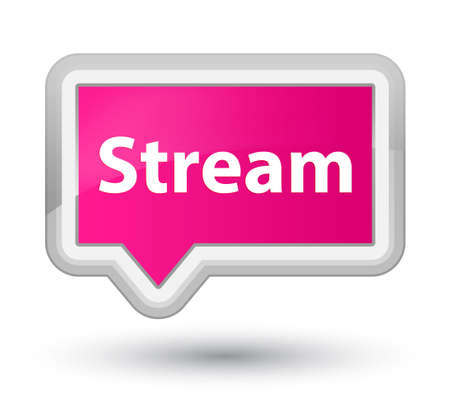 Stream isolated on prime pink banner button abstract illustration