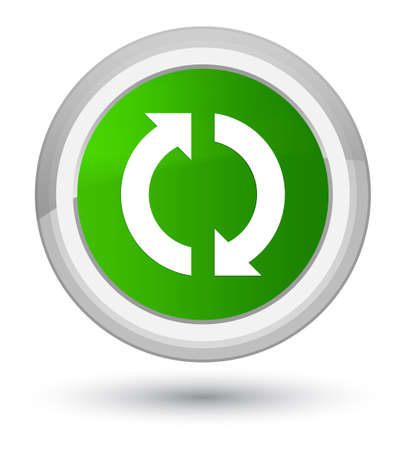 improving: Update icon isolated on prime green round button abstract illustration
