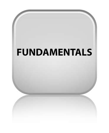 Fundamentals isolated on special white square button reflected abstract illustration Stock Photo