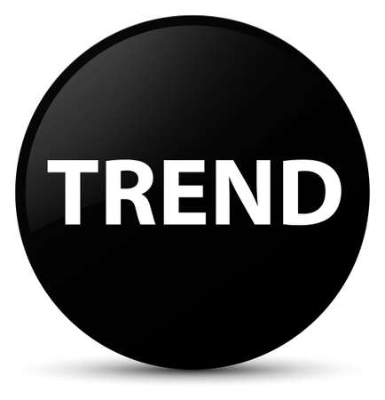 Trend isolated on black round button abstract illustration Banco de Imagens