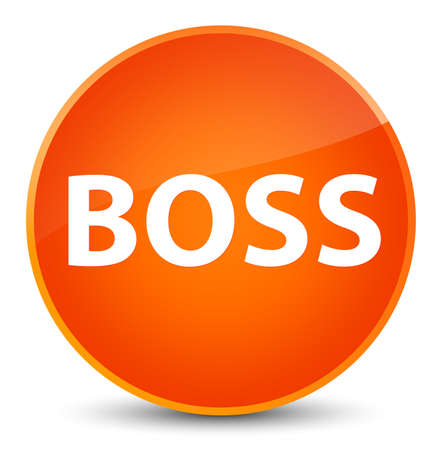 Boss isolated on elegant orange round button abstract illustration Imagens