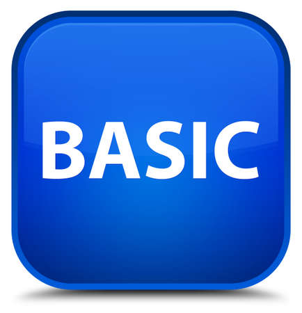 Basic isolated on special blue square button abstract illustration