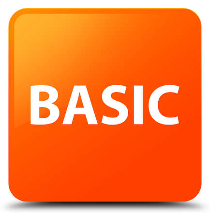 Basic isolated on orange square button abstract illustration