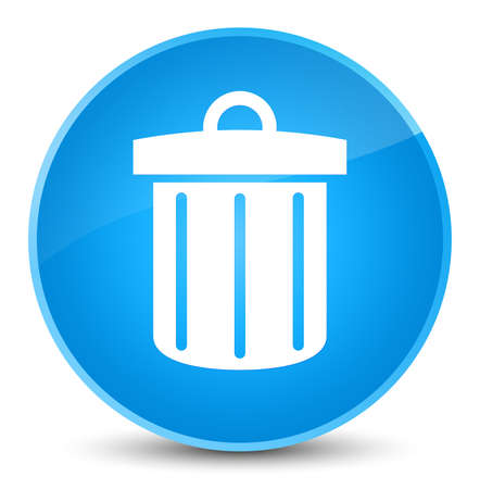 Recycle bin icon isolated on elegant cyan blue round button abstract illustration
