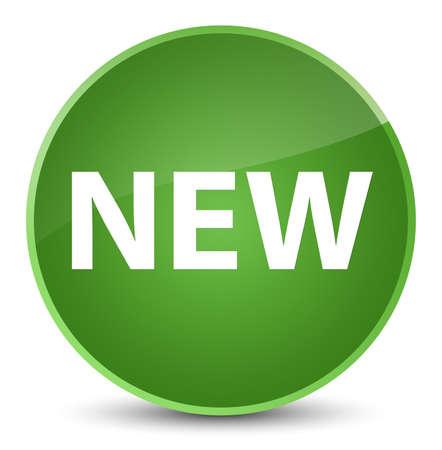 Neu lokalisiert auf eleganter weicher grüner runder Knopfzusammenfassungsillustration
