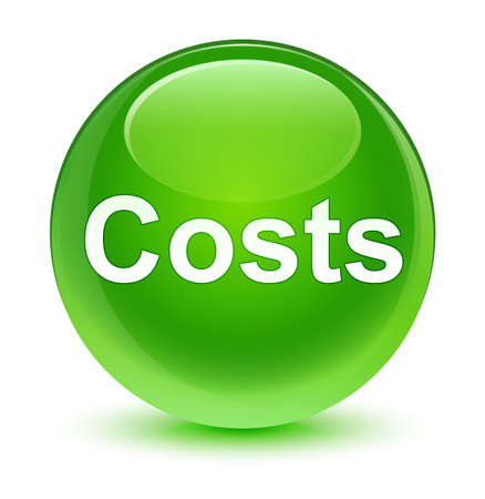 Costs isolated on glassy green round button abstract illustration Stock Photo