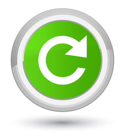 Reply rotate icon isolated on prime soft green round button abstract illustration