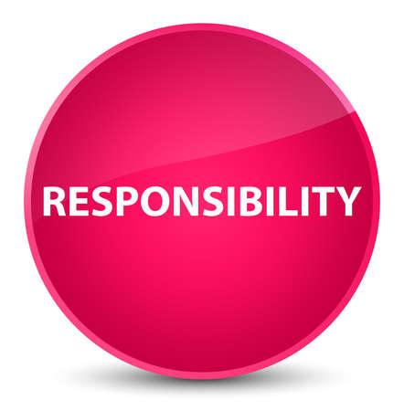 Verantwoordelijkheid op elegante roze ronde knoop abstracte illustratie die wordt geïsoleerd