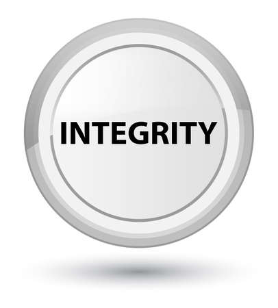 Integrity isolated on prime white round button abstract illustration