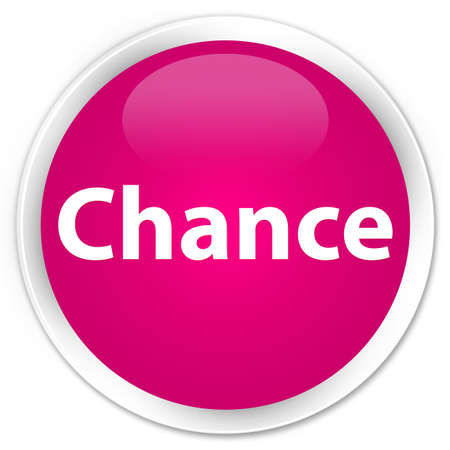 Chance isolated on premium pink round button abstract illustration