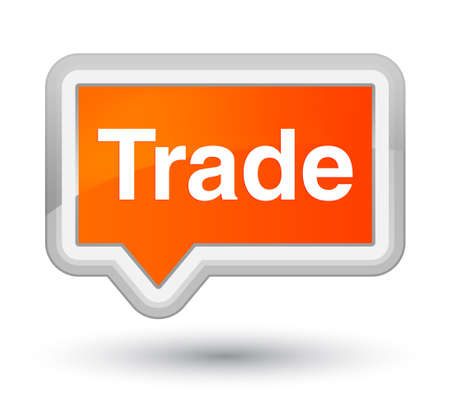 Trade isolated on prime orange banner button abstract illustration