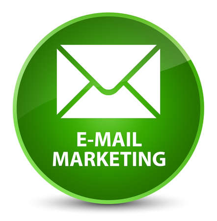 E-mail marketing isolated on elegant green round button abstract illustration
