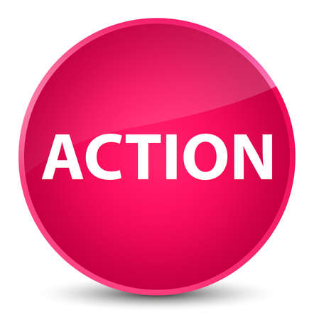 Action isolated on elegant pink round button abstract illustration