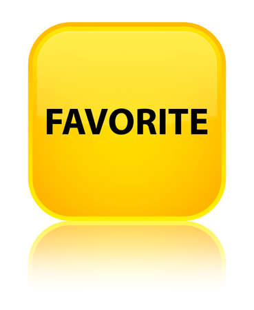 Favorite isolated on special yellow square button reflected abstract illustration Stock Photo