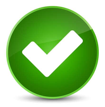 validation: Validate icon isolated on elegant green round button abstract illustration