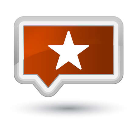 Star icon isolated on prime brown banner button abstract illustration Stock Photo