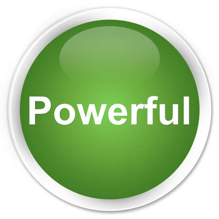 Powerful isolated on premium soft green round button abstract illustration
