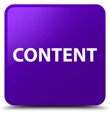Content isolated on purple square button abstract illustration
