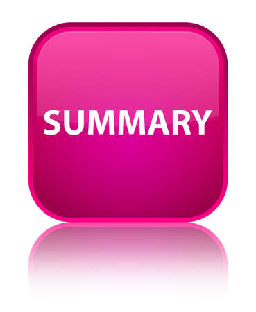 Summary isolated on special pink square button reflected abstract illustration