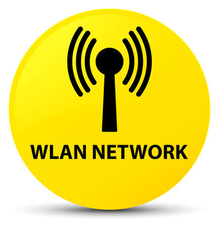 Wlan network isolated on yellow round button abstract illustration